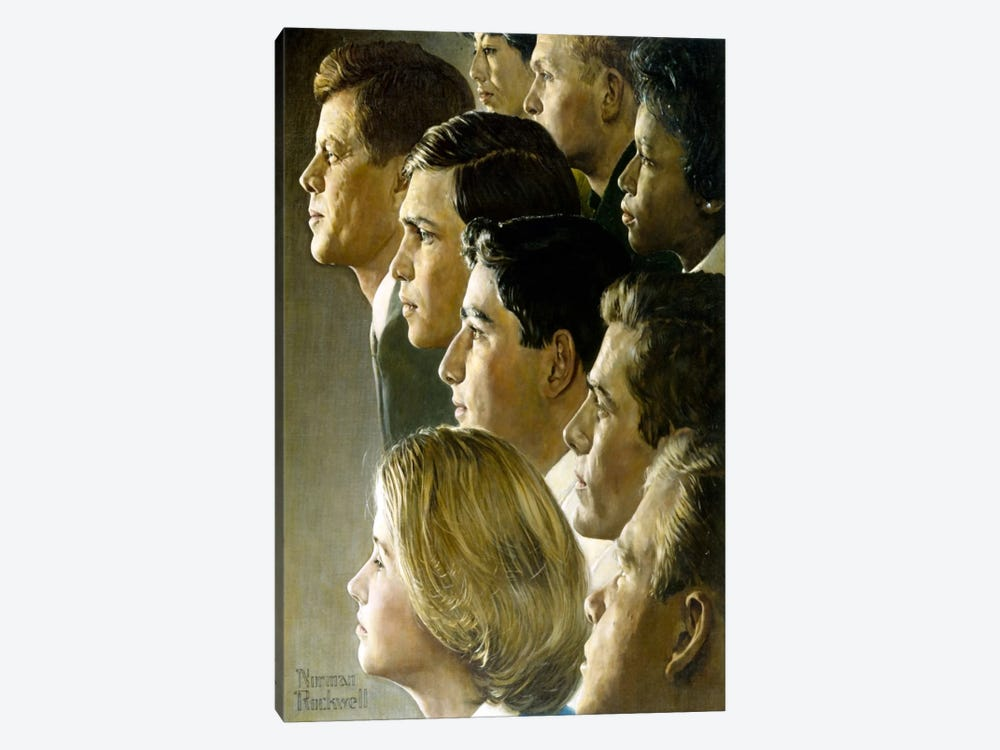 The Peace Corps by Norman Rockwell 1-piece Canvas Print