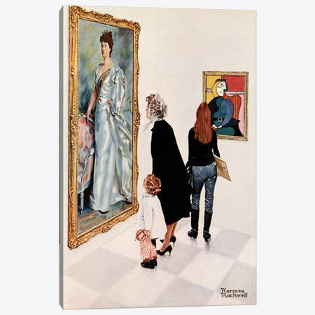 Picasso vs. Sargent Canvas Print #NRL41} by Norman Rockwell Canvas Art