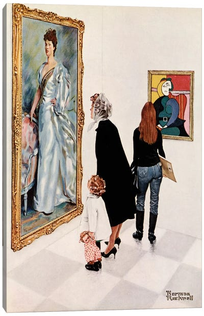 Picasso vs. Sargent by Norman Rockwell Canvas Art