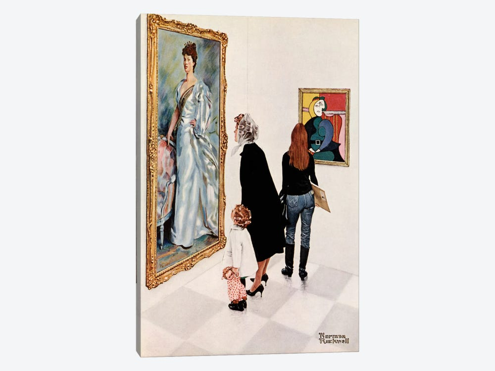 Picasso vs. Sargent by Norman Rockwell 1-piece Canvas Artwork