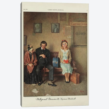 Hollywood Dreams Canvas Print #NRL428} by Norman Rockwell Canvas Art Print