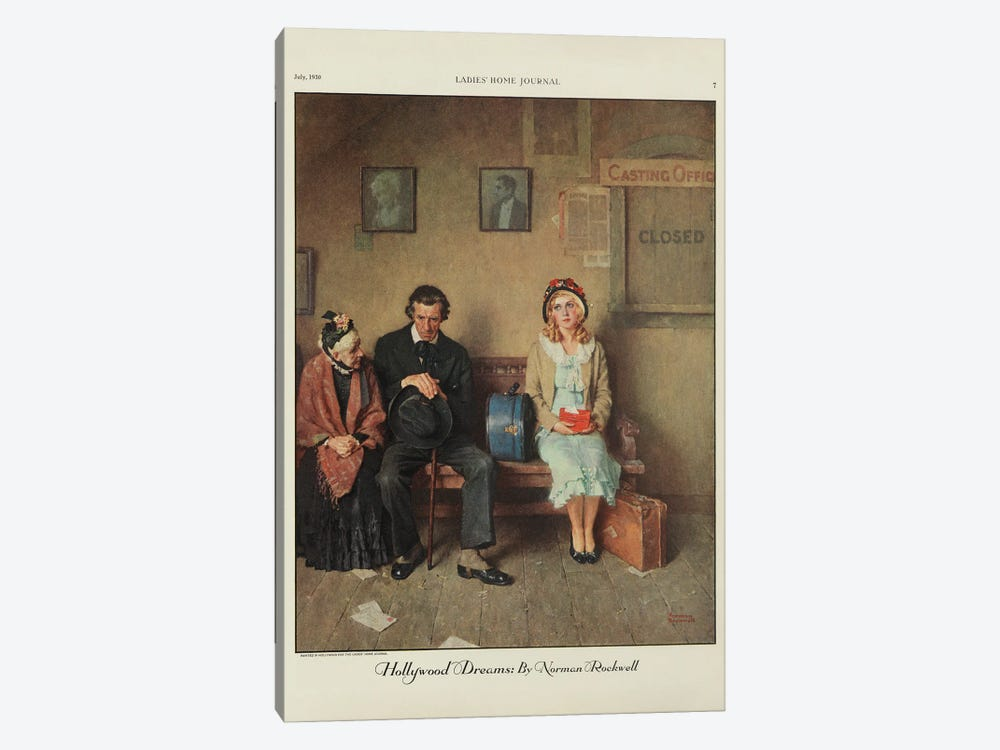 Hollywood Dreams by Norman Rockwell 1-piece Canvas Wall Art