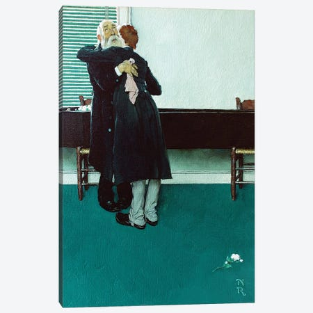 King and Duke Crying Canvas Print #NRL435} by Norman Rockwell Art Print