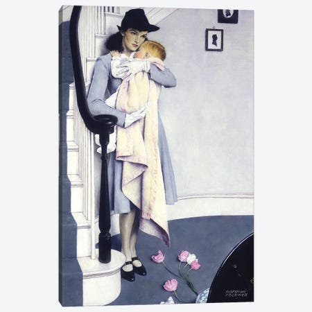 Red Head Canvas Print #NRL439} by Norman Rockwell Canvas Wall Art