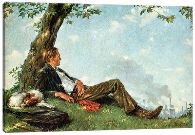 The Philosopher Canvas Art Print