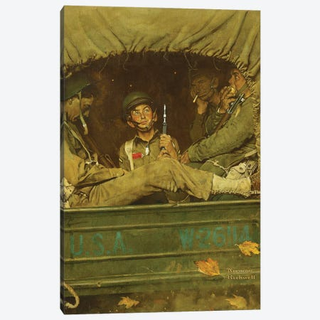 Willie Gillis In Convoy Canvas Print #NRL450} by Norman Rockwell Canvas Artwork