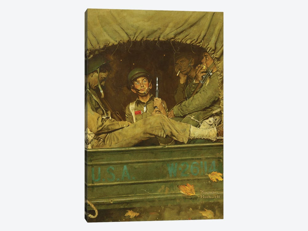 Willie Gillis In Convoy by Norman Rockwell 1-piece Canvas Print