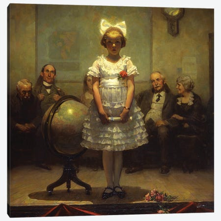 Young Valedictorian Canvas Print #NRL451} by Norman Rockwell Canvas Wall Art