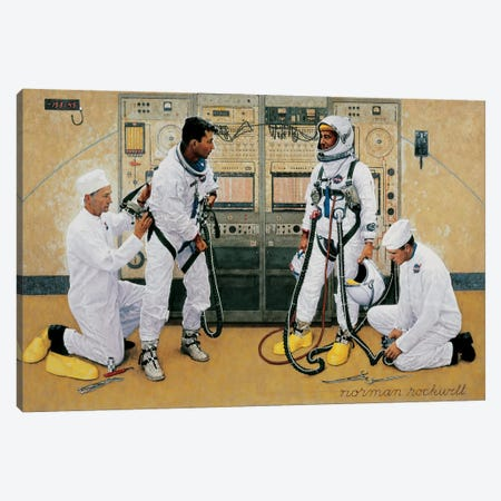 The Longest Step Canvas Print #NRL45} by Norman Rockwell Art Print