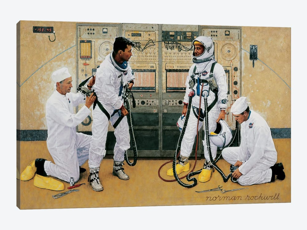 The Longest Step by Norman Rockwell 1-piece Canvas Wall Art