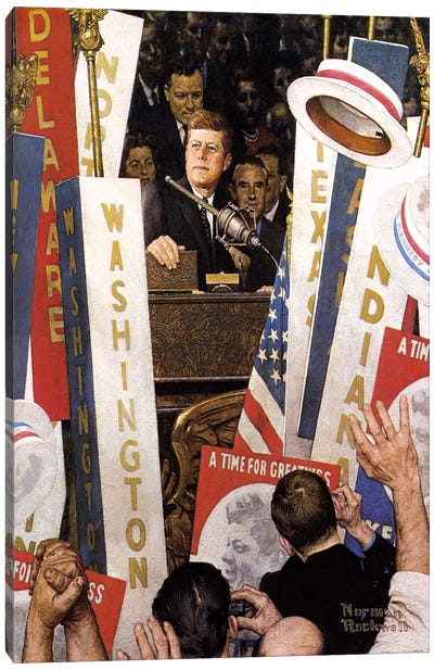 A Time for Greatness by Norman Rockwell Canvas Art