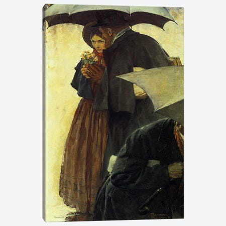 The Most Beloved American Writer #2 Canvas Print #NRL4} by Norman Rockwell Canvas Print