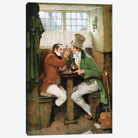 To Father Christmas Canvas Print #NRL51} by Norman Rockwell Canvas Art Print