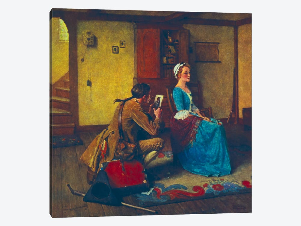 The Silhouette  by Norman Rockwell 1-piece Canvas Print