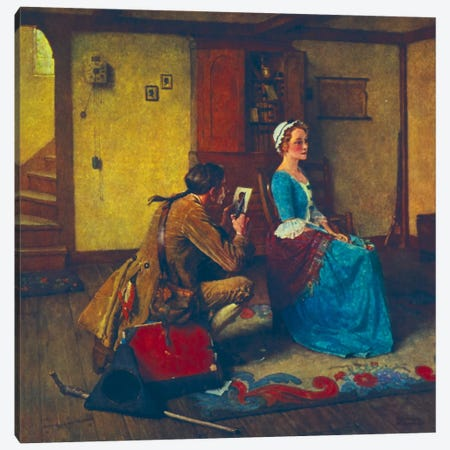 The Silhouette  Canvas Print #NRL53} by Norman Rockwell Art Print