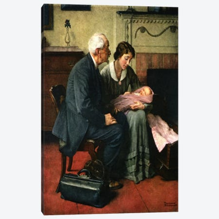 My Neighbors and Myself Canvas Print #NRL58} by Norman Rockwell Art Print