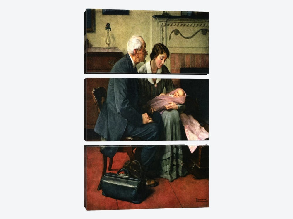 My Neighbors and Myself by Norman Rockwell 3-piece Canvas Artwork