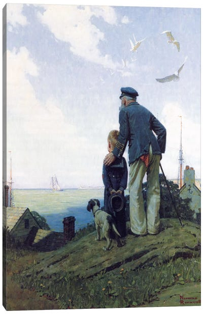 The Stay at Homes by Norman Rockwell Canvas Art Print