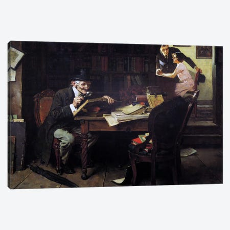 The Book of Romance Canvas Print #NRL60} by Norman Rockwell Canvas Art