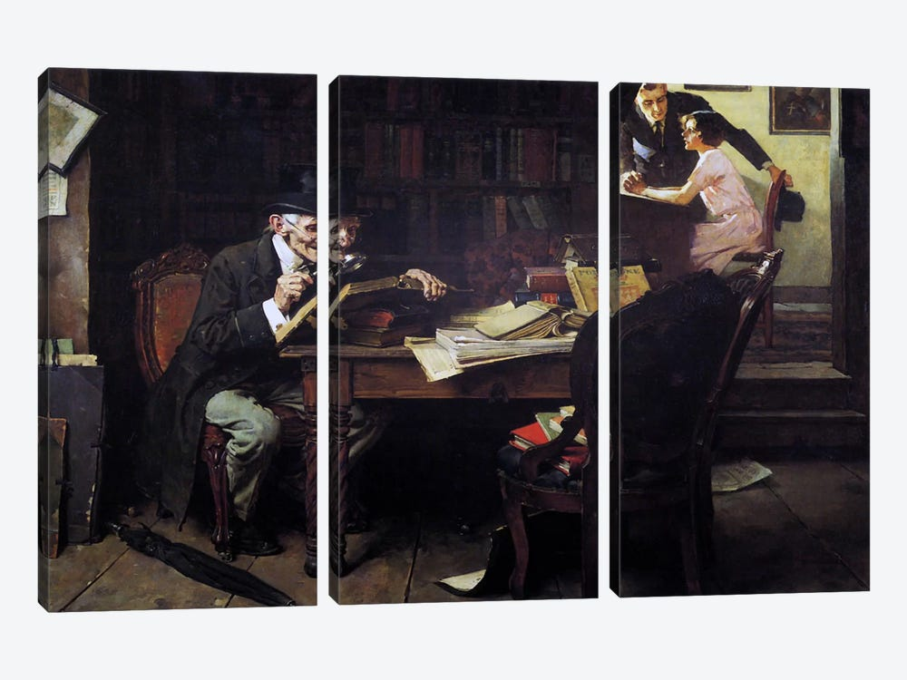 The Book of Romance by Norman Rockwell 3-piece Art Print