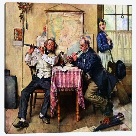 The Love Song Canvas Print #NRL62} by Norman Rockwell Canvas Artwork
