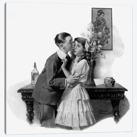 Courting Canvas Print #NRL63} by Norman Rockwell Canvas Art
