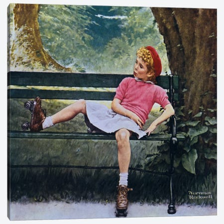 The Meeting Canvas Print #NRL65} by Norman Rockwell Canvas Art Print