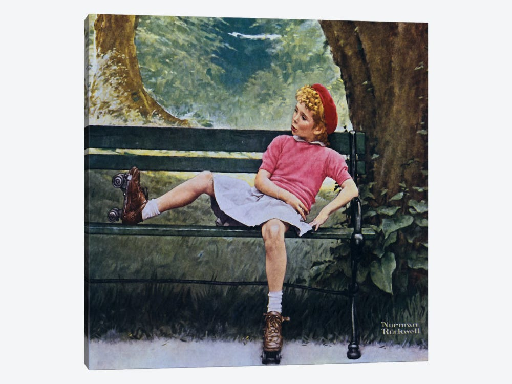 The Meeting by Norman Rockwell 1-piece Canvas Art