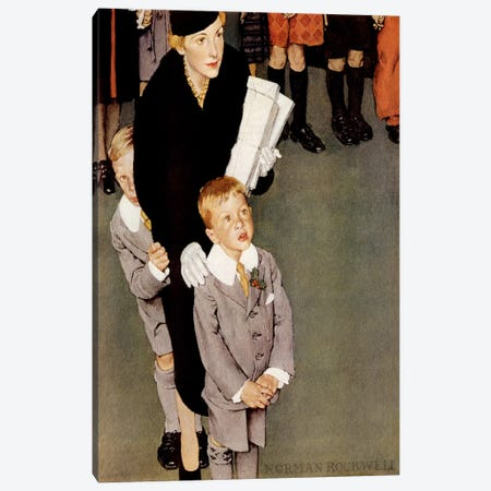 Across the Threshold 'So-an-ge-ta-ha.' Canvas Print #NRL66} by Norman Rockwell Canvas Art Print
