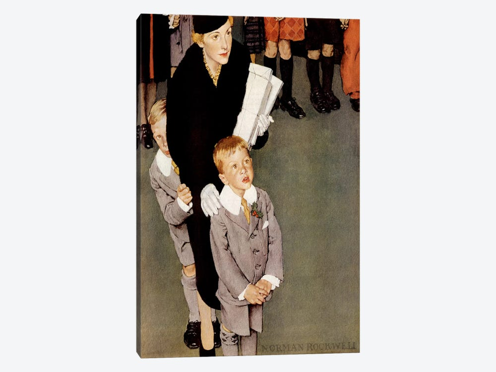 Across the Threshold 'So-an-ge-ta-ha.' by Norman Rockwell 1-piece Art Print
