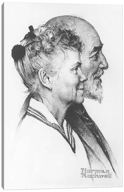 Portrait of John and Dorothy Canfield Fisher Canvas Art Print