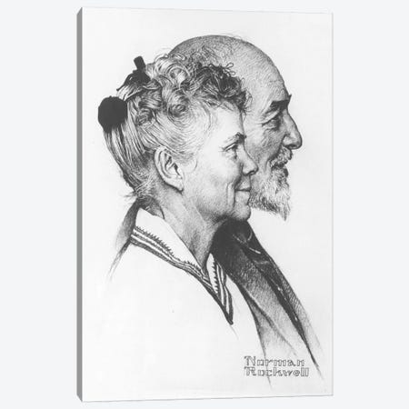 Portrait of John and Dorothy Canfield Fisher Canvas Print #NRL68} by Norman Rockwell Canvas Art