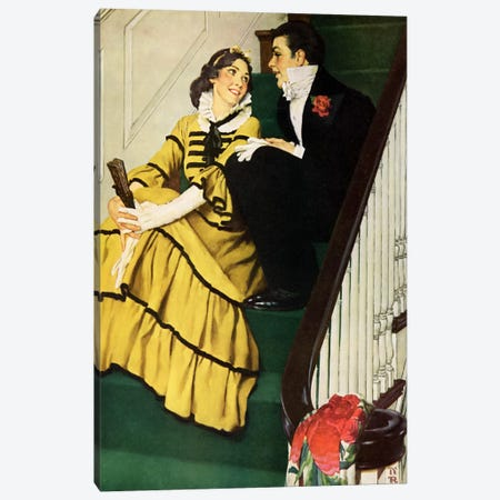 The Most Beloved American Writer Canvas Print #NRL6} by Norman Rockwell Art Print