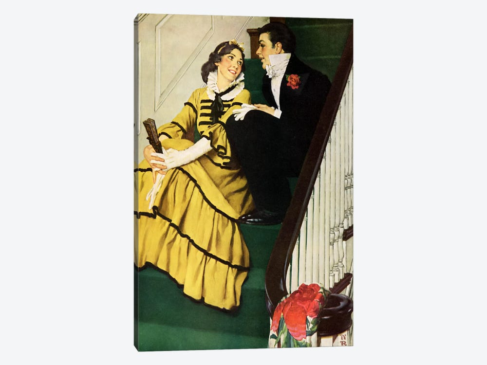 The Most Beloved American Writer by Norman Rockwell 1-piece Canvas Wall Art