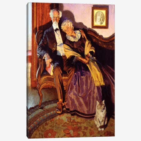 When Winter Comes Canvas Print #NRL73} by Norman Rockwell Canvas Print
