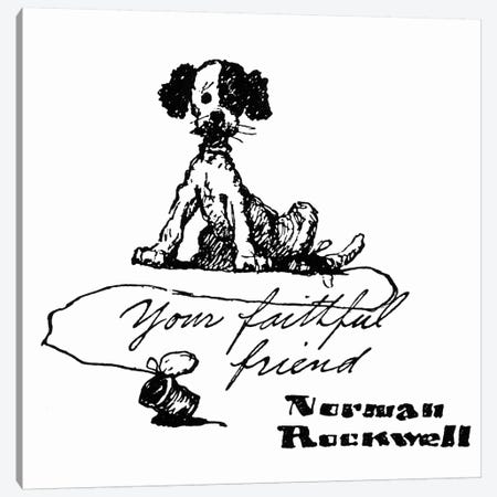 Your Faithful Friend Canvas Print #NRL74} by Norman Rockwell Canvas Art