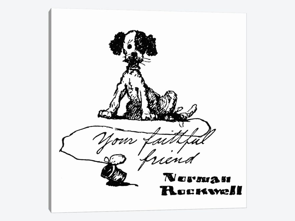 Your Faithful Friend by Norman Rockwell 1-piece Canvas Art