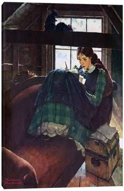 The Most Beloved American Writer Woman Canvas Art Print