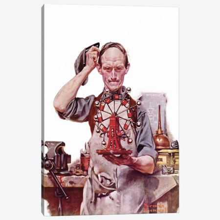 Perpetual Motion Canvas Print #NRL97} by Norman Rockwell Canvas Art