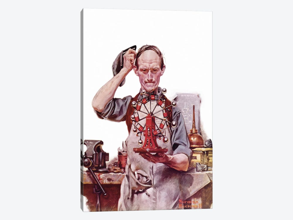 Perpetual Motion by Norman Rockwell 1-piece Art Print