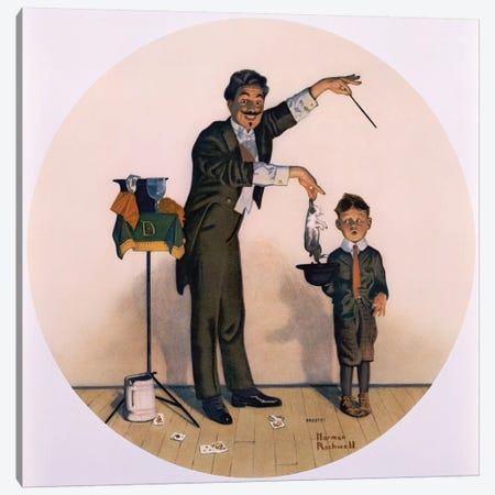 The Magician Canvas Print #NRL98} by Norman Rockwell Art Print
