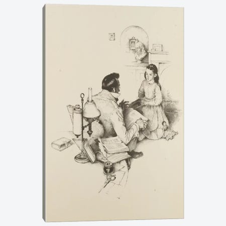 The Tutor Canvas Print #NRL9} by Norman Rockwell Canvas Art