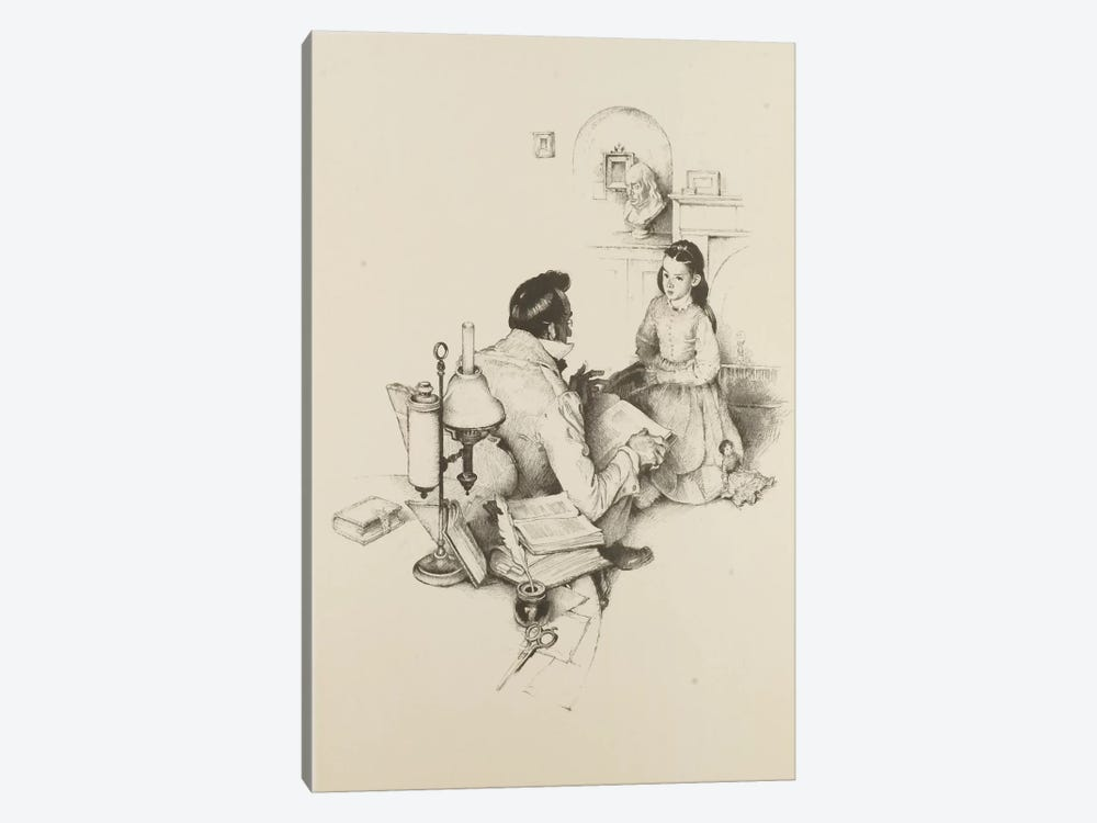 The Tutor by Norman Rockwell 1-piece Art Print