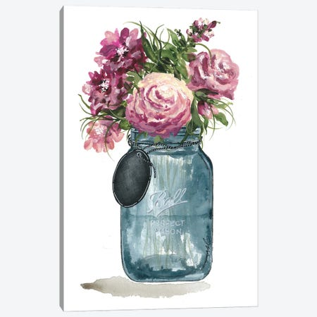 Stop To Smell The Flowers Canvas Print #NRS5} by Julie Norkus Art Print