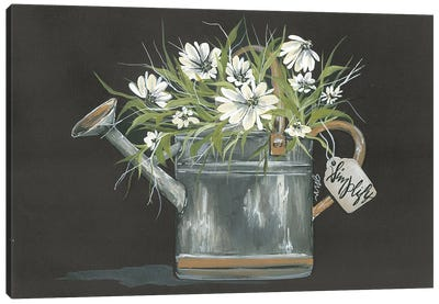 Watering Can Daisy Canvas Art Print