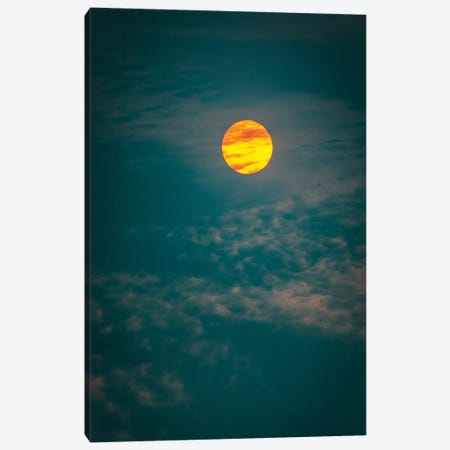Sunrise And Cyan Sky Close Up Canvas Print #NRV102} by Nik Rave Canvas Print