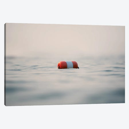 Calmness Or Buoy Over The Flat Water Surface Canvas Print #NRV113} by Nik Rave Canvas Art