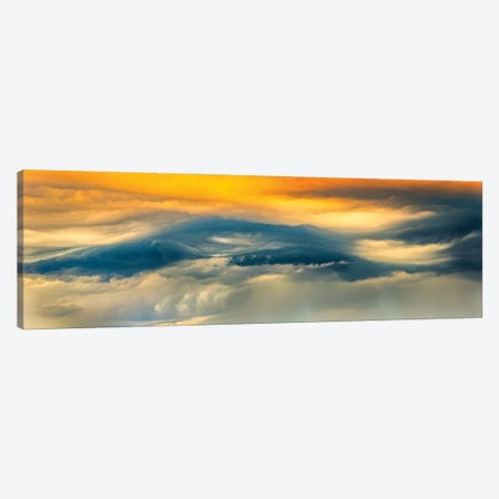 Panoramic Wave Sky Canvas Print #NRV141} by Nik Rave Canvas Art Print