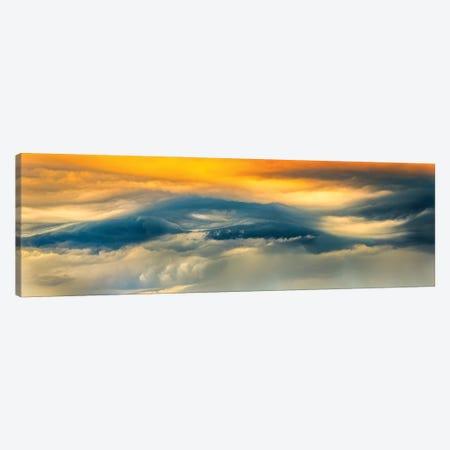 Panoramic Wave Sky Canvas Print #NRV141} by Nik Rave Canvas Art Print