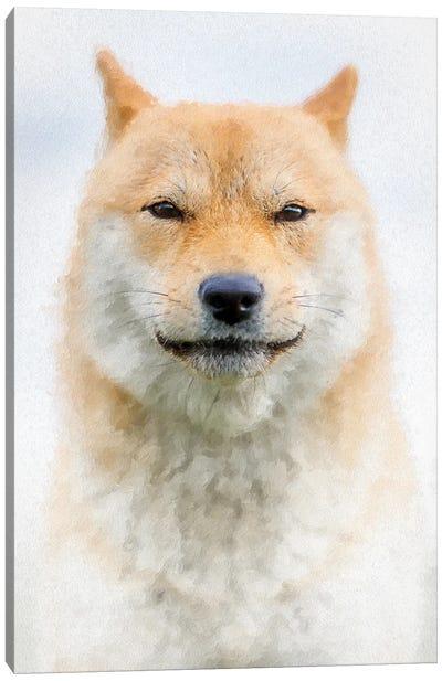 Custodian Shiba Dog Painting Canvas Art Print